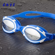 CNYE Blue Liquid Silicone New fashion design Swim Goggles for adults