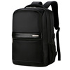 Stylish Black Business Computer Backpack Wholesale, Classic Nylon Waterproof Laptop Backpack Bag with trolley strap and USB c
