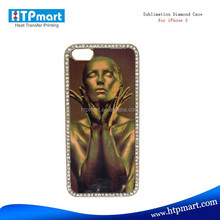 Hot selling sublimation bling jeweled cell phone cases for iphone 5C/5S