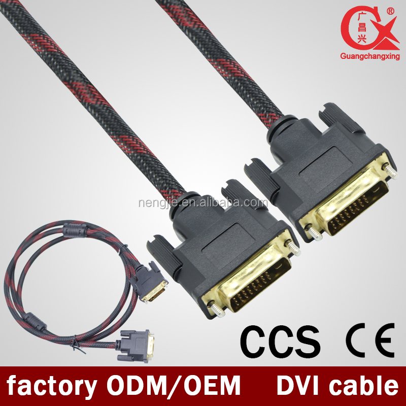 High quality long meters scart to dvi cable and DVI CABLE for wholesale male to male