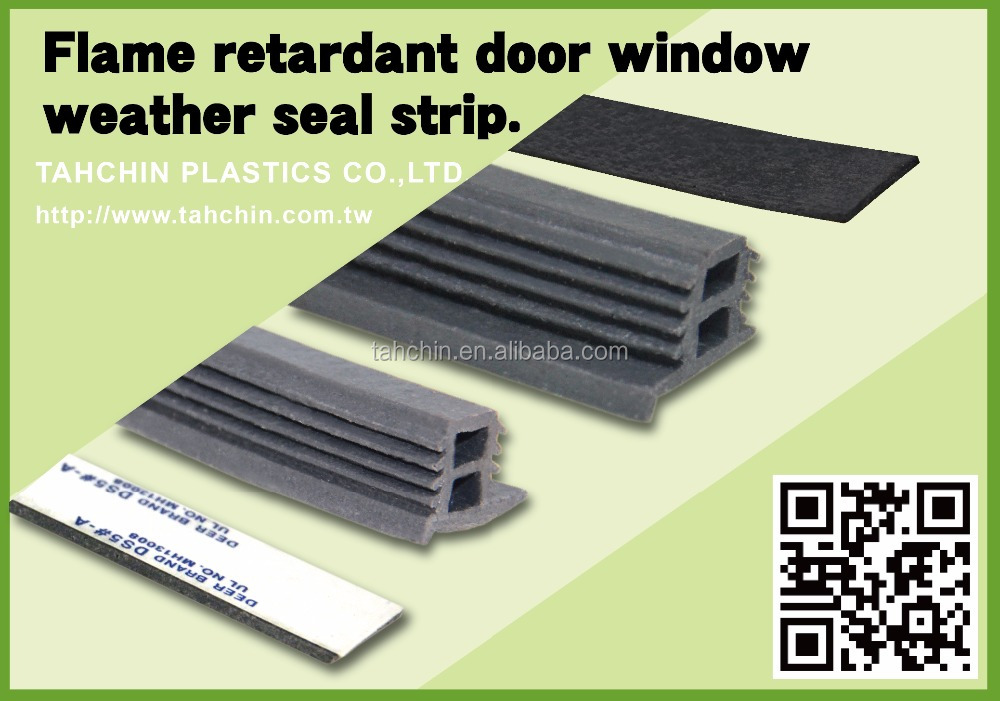 Flame retardant material door frame rubber sealing strip
