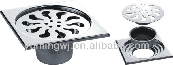 high quality stainless steel floor trap drains sale at low price