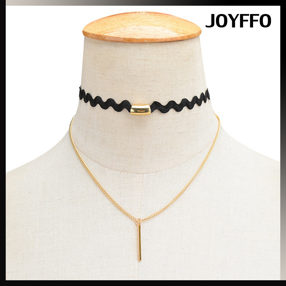 Fashion All The Year Round 1 Word Tassel Multilayer Choker Necklace Wholesale