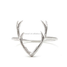 Popular Deer Antlers Silver Rings YU-0280