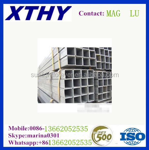 ASTM A500 material,Q195 Q215 Q235 grade TianJIn Factory 38*38 steel square pipe/TUBE HOLLOW SECTION GALVANZIED/BLACK ANNEALED