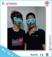 high brightness shutter and Ray-ban style el wire party glasses with soft light