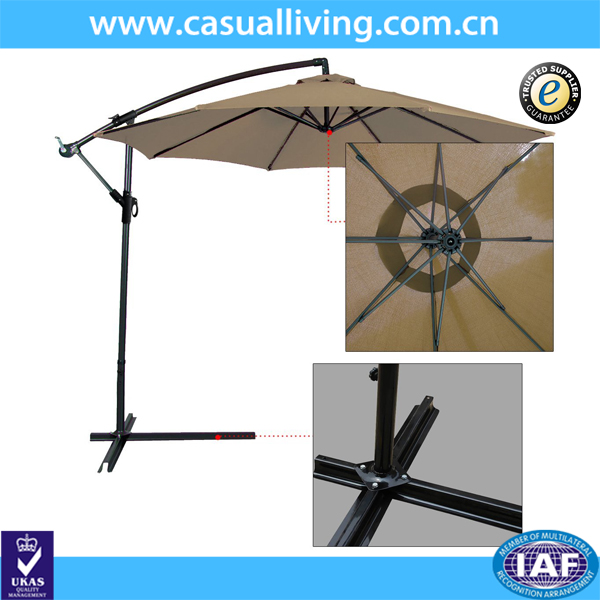 9ft Offset Patio Umbrella Hanging Umbrella
