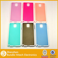 Soft IMD/IML Protective PU+ TPU Case for Note3, custom case
