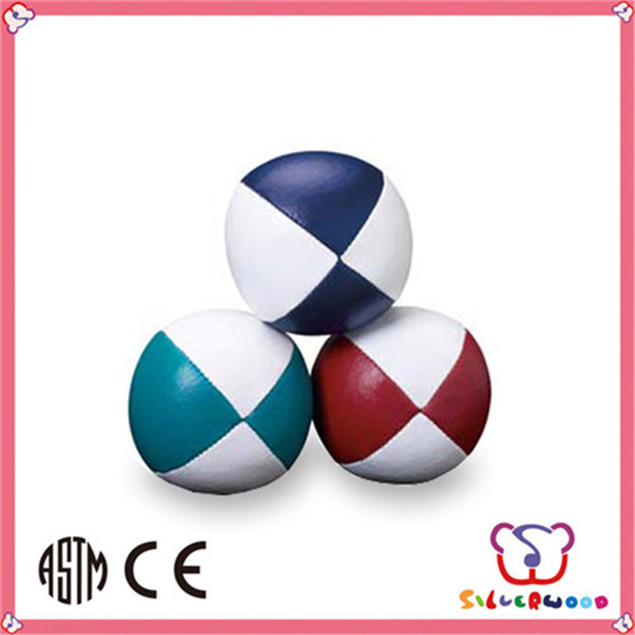 Sedex factory supply high quality vinyl stuffed juggling ball