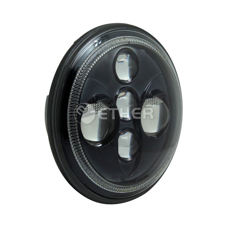made in china Aluminum halo head lamp for jeep van