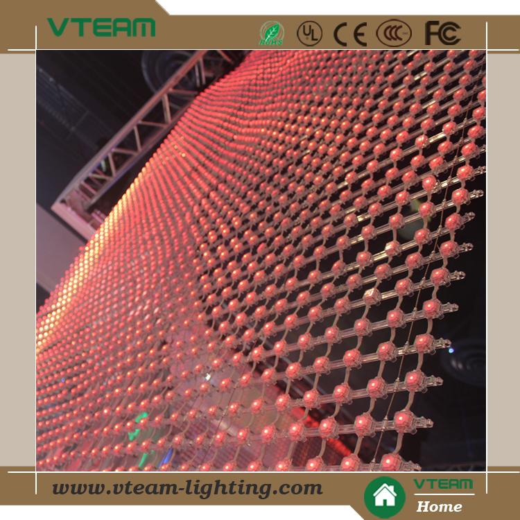 soft flexible led video mesh/curtain display screen