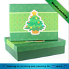 Green hard cardboard glossy finish rectangular baby shower gift box with lid
