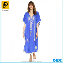 Wholesale Price Excellent Quality Fashionable cotton embroidery kaftan