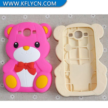customised pooh design silicone phone case for samsung s3 animal shape silicon phone case