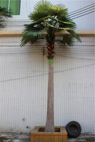 only $399.98 sale 4m height home decoration artificial fake cheap huge fiberglass trunk plastic stem Fan Kui palm tree E12 25S66