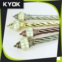 KYOK Simple and elegant decorative curtain finals , Sinding smoothly metalcurtain track/home decor curtain acessorise