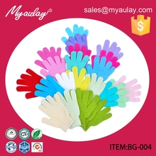 BG-004 new products for Nylon hammam bath shower exfoliating glove for bathing glove