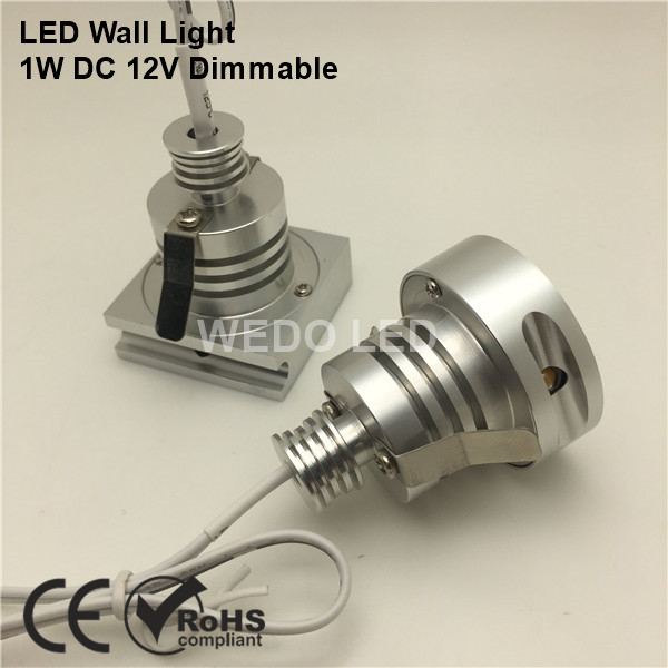 Modern Mini 12 Volt Enclosed LED Wall Stair Light foot lamp