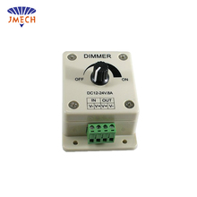 PWM Dimming Controller for LED Lights, Ribbon, Strip, 12 - 24 Volt (12V - 24V) 8 Amp, Electrical Dimmer Switches for Home