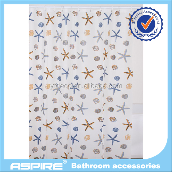 Peva Waterproof Hookless Shower Curtain