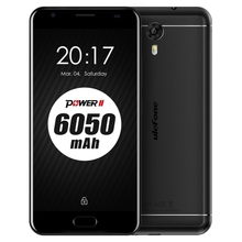 New products 6050mah Ulefone Power 2 4G LTE Smartphone Dual Sim Mobile Phone MTK6753 Octa Core Fingerprint ID 4GB RAM 64GB