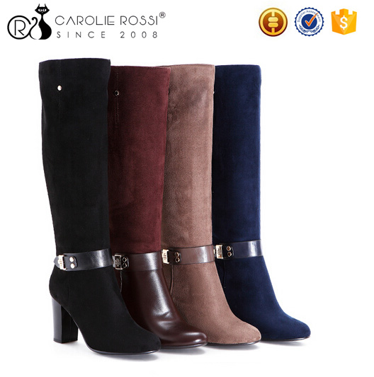 Newly fancy over knee boots for women work boots made in china high heels