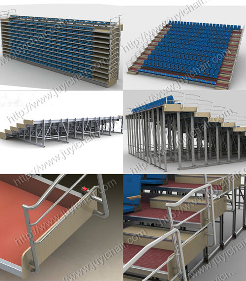 JY-750 Factory Price Plastic Bleacher Stadium Seats Folding Grandstand Seating Chair