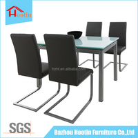 extended tempered glass dining table furniture for the living room