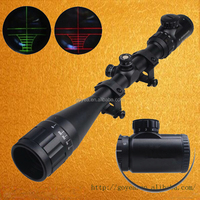 6-24X50 Adjustable Hunting Green Red Dot Illuminated Tactical Riflescope Reticle Optical Sight Scope for Shotgun Riflescopes