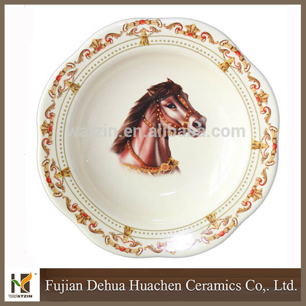 2015 New Design Ceramic Horse Dishes