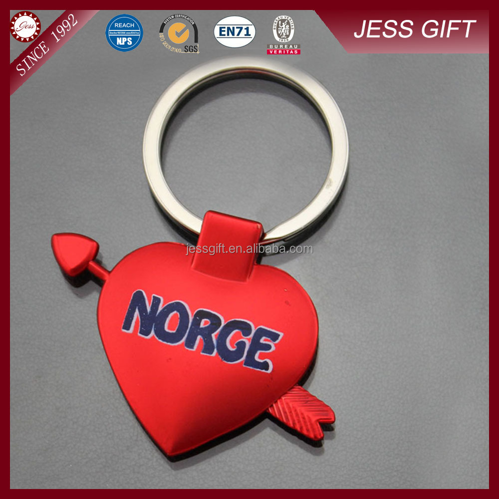 Love heart keychain with OEM logo on sale