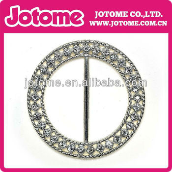 Circle Rhinestone Buckle Slider, ribbon slider, rhinestone, wedding invitation, DIY, wholesale