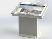 Library lobby Self-service Touch Screen Kiosk / IR touch screen Kiosk for Advertsing