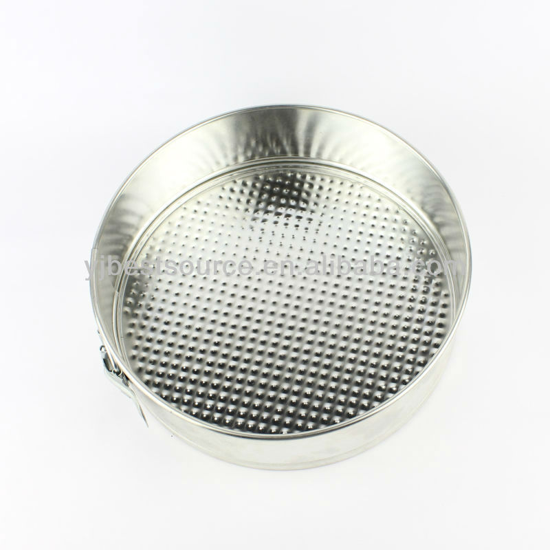 8 inch tin round Cake Baking Pan with adjustive lock