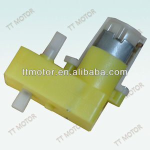 double shaft dc toy motor with plastic gear 3v motor