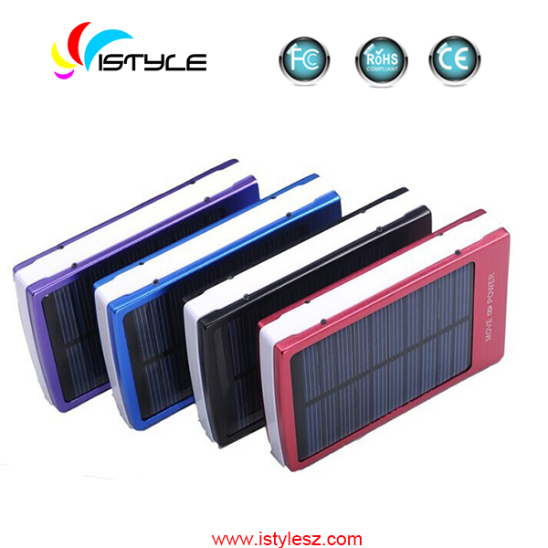 2015 Best selling solar battery pack 13800mah rohs solar cell phone charger