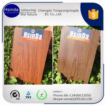 heat transfer technology themosetting wood effect aluminium powder coating paint
