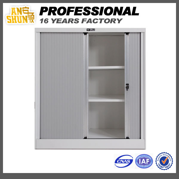 Adjustable 2 shelf filing cabinet rolling shutter,tambour door filing cabinet,rollers for metal file cabinet