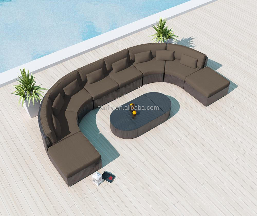 Garden patio furniture Half Circle Sofa outdoor set