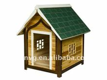 Wooden Fashione Dog House With Green Roof