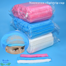 Disposable PP Non woven strip clip cap bouffant head cover surgical doctor hat mob cap