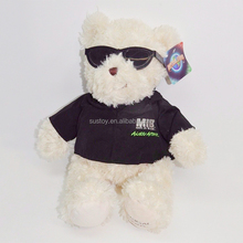 voice recorder talking mp3 player electrical sunglass black teddy bear with glasses
