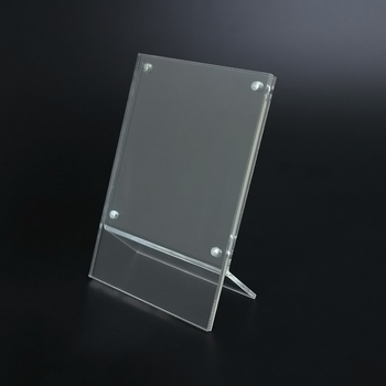 Desktop Free Stand Transparent Magnets Acrylic Photo Frame
