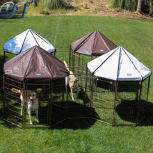 Black Powder Coated & Galvanized Welded Wire Panel Outdoor Modular Dog Kennel/dog run fence