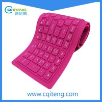Mini Wireless Keyboard Factory Silicone Waterproof Flexible,wireless silicon bluetooth keyboard soft keyboard