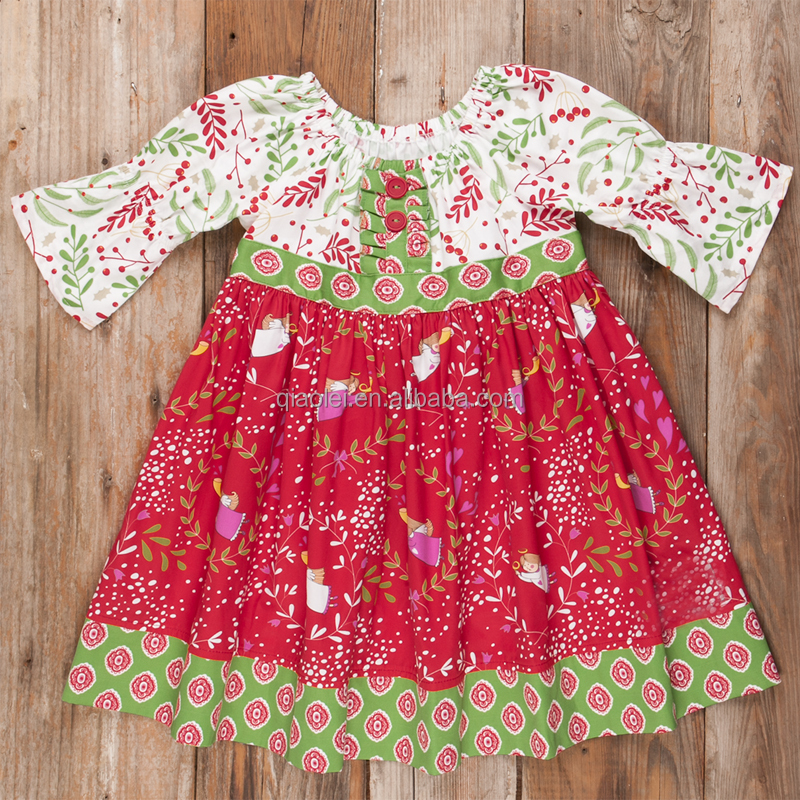 Hot selling baby children designs dot pants boutique girl christmas party remake dress