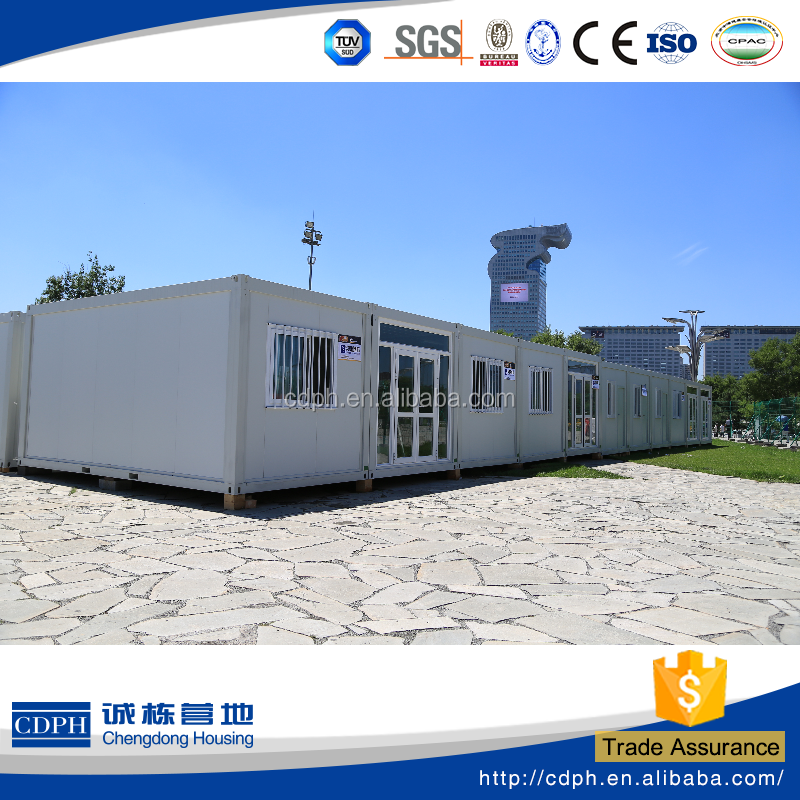 China alibaba flexible combined container home, Made in China portable home , 20ft steel structure mobile house