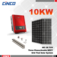 10 kw on grid solar system,grid tie solar inverter 10kw, solar electricity generating system for home