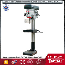 floor type drill press with optional keyless chuck and swivel worktable