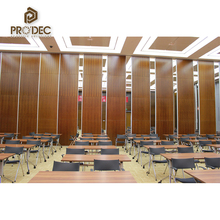 Banquet hall interior decoration soundproof folding wall partition
